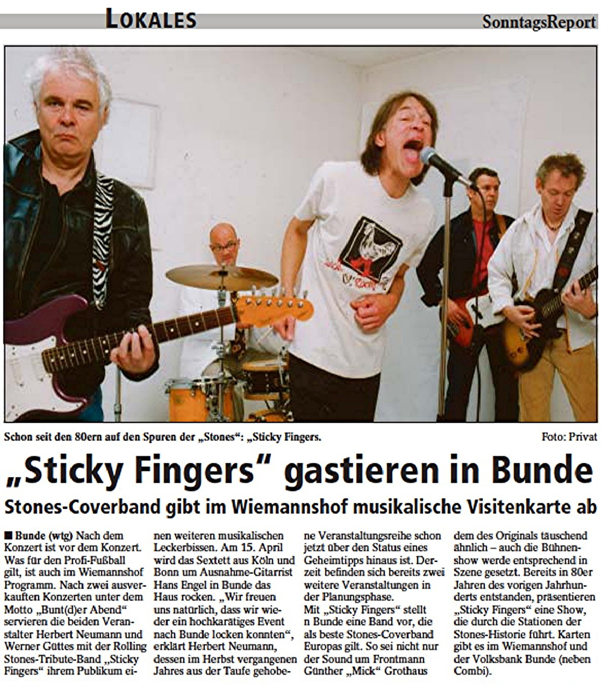 07 Sonntags-Report  Sticky Fingers 13.03.2011