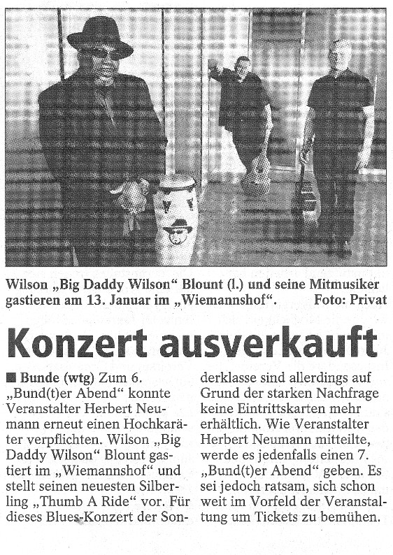 15 Sonntags-Report  Big Daddy Wilson 01.01.2012