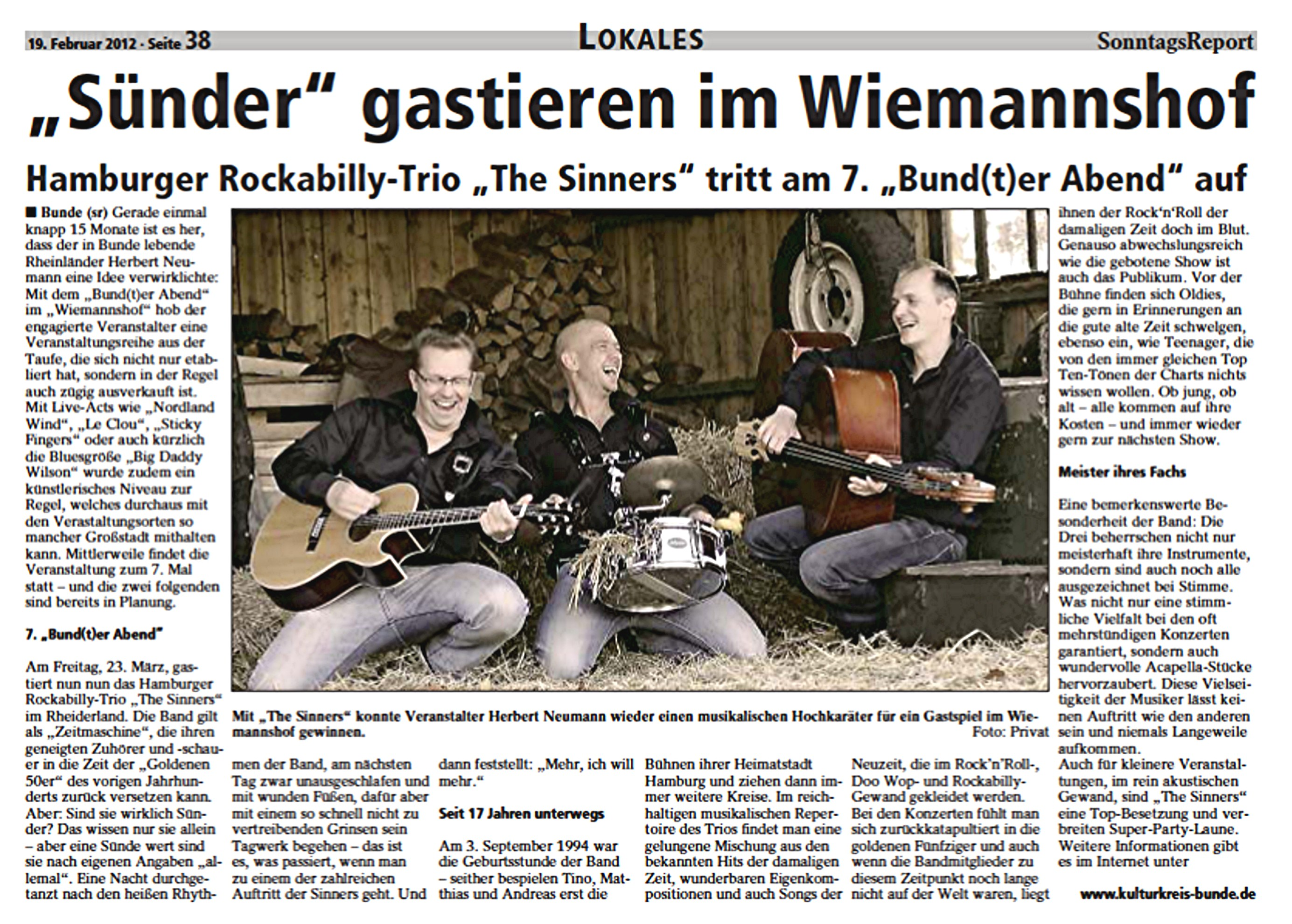 17 Sonntags-Report The Sinners 19.02.2012