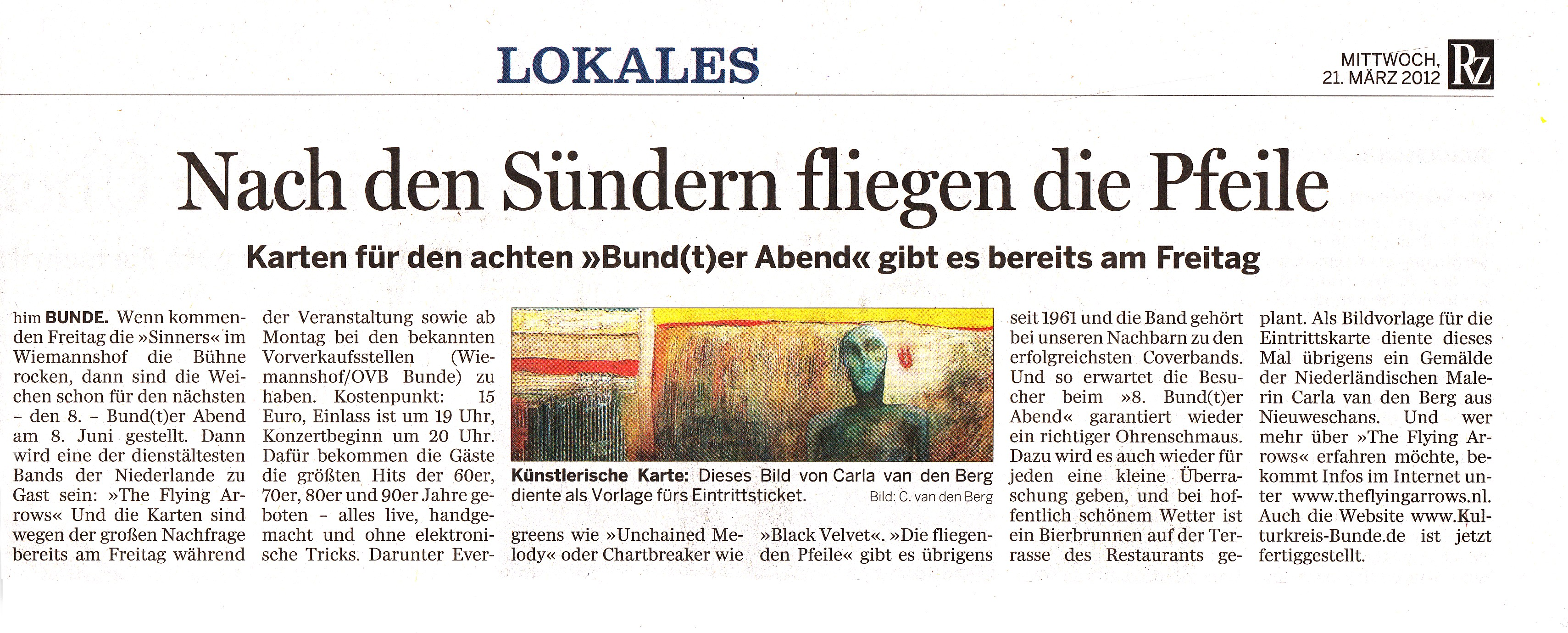 18 Rheiderland-Zeitung The Flying Arrows  21.03.2012