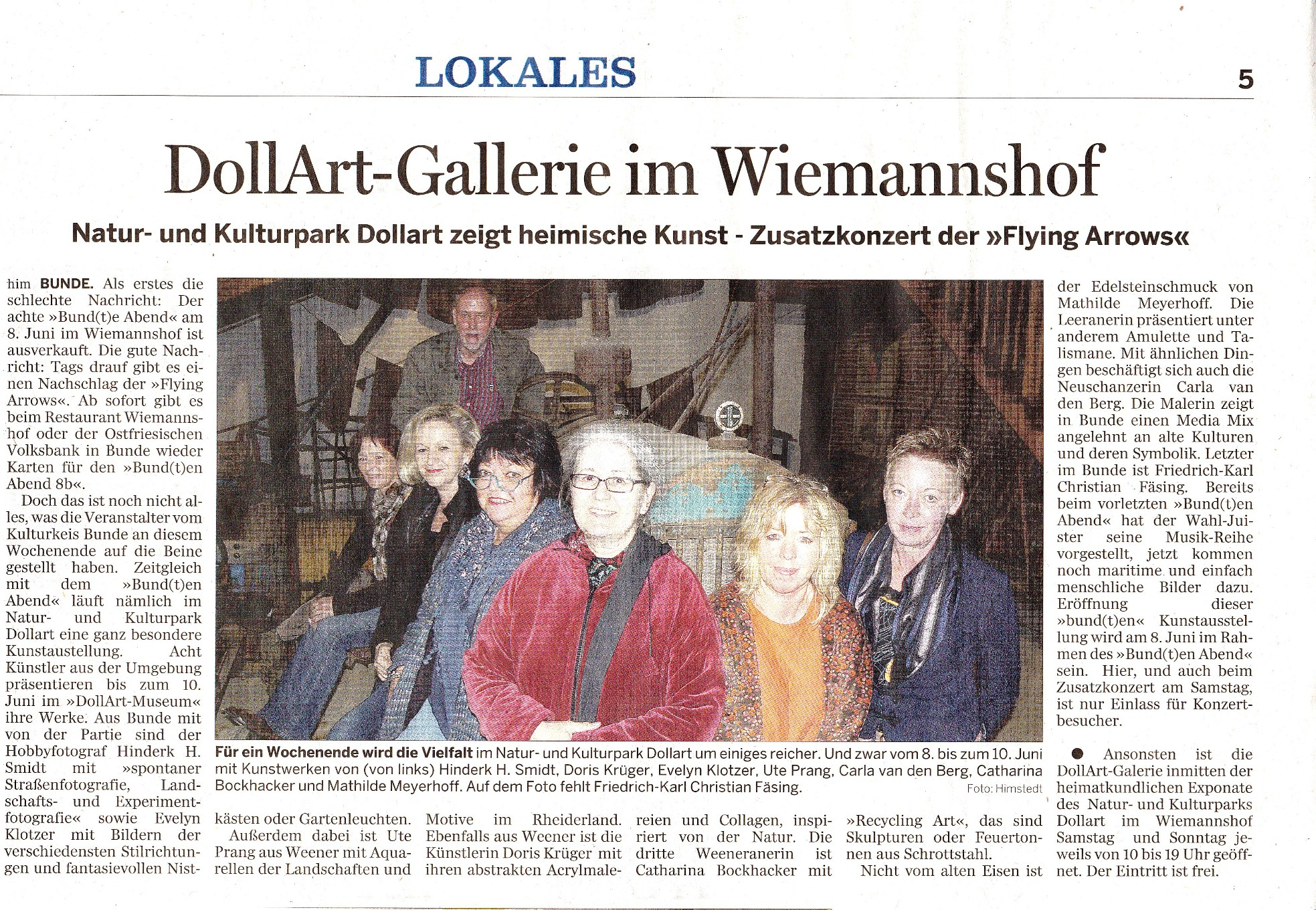 22 Rheiderland-Zeitung The Flying Arrows  16.04.2012