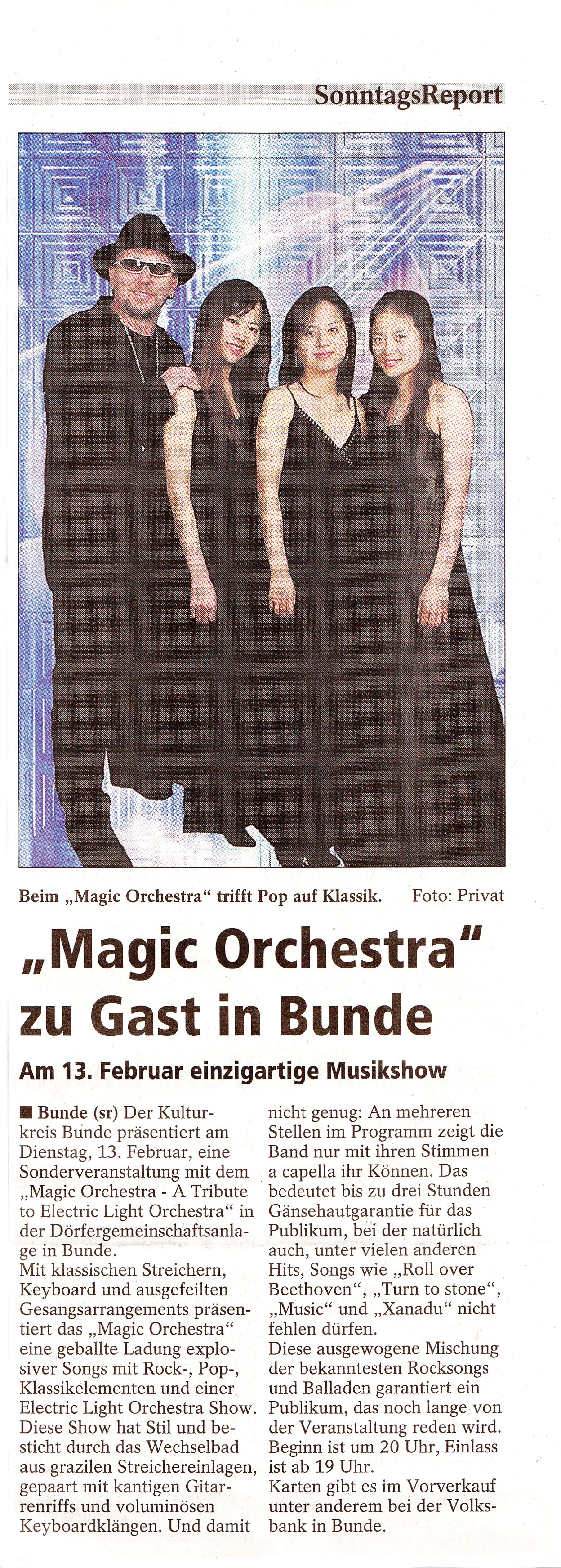 64 Sonntags-Report Magic Orchestra 11.01.2015